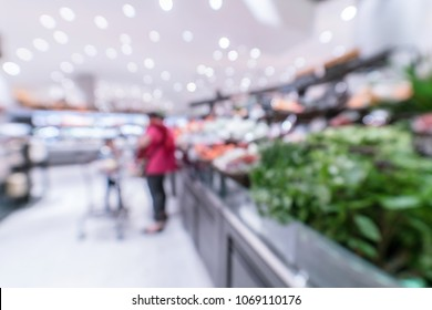 Blurry image of vegetable at department store