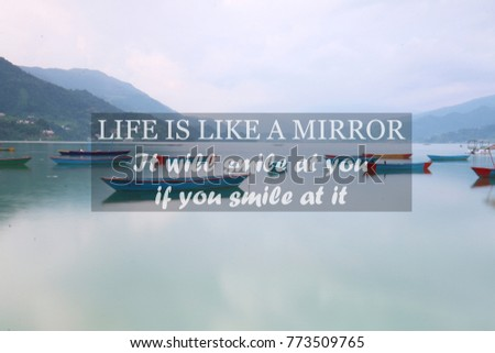 Blurry Lake Wooden Boats Inspirational Quote Stock Photo Edit Now