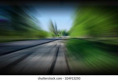 Blurry landscape background,Zoom