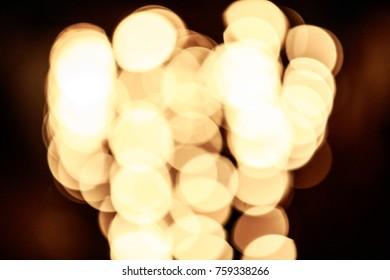 Blurry Large Yellow Lights