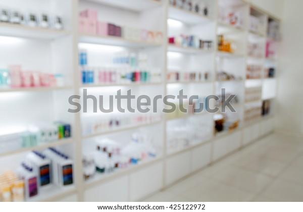 Blurry Medicine Cabinet Store Medicine Pharmacy Stock Photo Edit Now 425122972