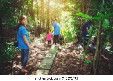 Blurry People in Volunteer Environmental Conservation in Forest