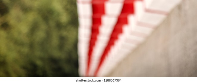 Blurry red and white pattern isolated abstract background photo