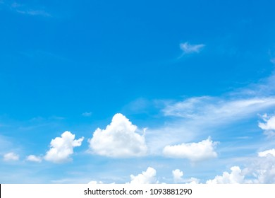 Blurry sky blue or azure sky and cloud on summer daytime of sun
