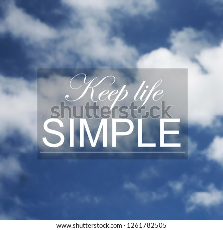 Blurry Sky Clouds Background Inspirational Quotes Stock Photo Edit