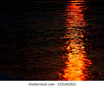 Blurry sunlight reflection in water unique colourful background photo