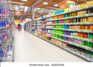 Blurry Supermarket Interior background