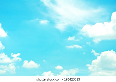 Blus sky with cloud background