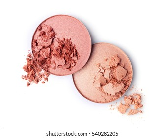 Blush or face powder isolated on white