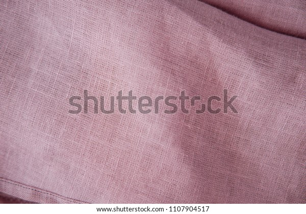 Blush Pink Soft Linen Fabric Texture Stock Photo (Edit Now
