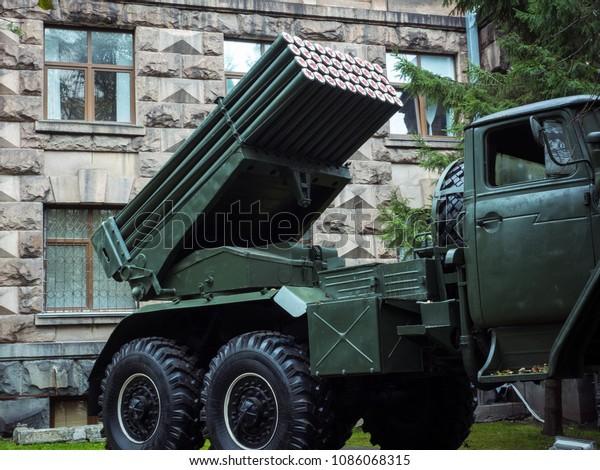 Bm21 Grad 122mm Multiple Rocket Launcher Stock Photo (Edit