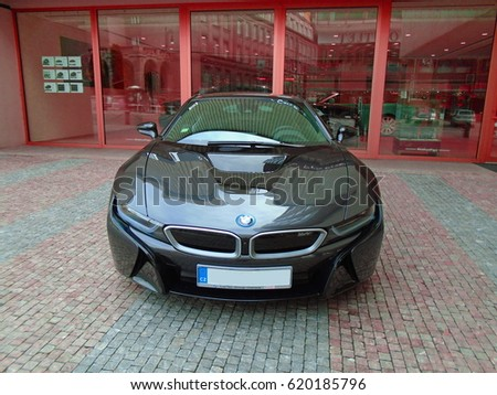 Bmw I 8 On Street Black Color Stock Photo Edit Now 620185796
