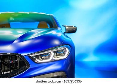 BMW M850i xDrive car on display at THE 41st BANGKOK INTERNATIONAL MOTOR SHOW 2020 on July 14, 2020 in Nonthaburi, Thailand.