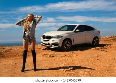 Bmw, sexually, car, sexy, woman, female, auto, automobile, girl, automobile, model, sexy, blonde, nature, fashion, style, relax, mood, emotions, travel, luxury, rich