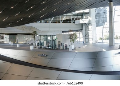 BMW World, BMW-Welt delivery and experience center, Munich, Bavaria, Germany, Europe, 03. July 2014