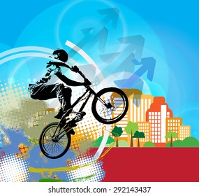 BMX rider. Sport illustration