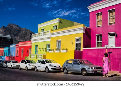 Bo Kaap district in Cape Town, South Africa