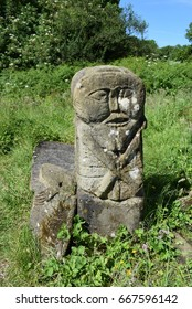 The Boa Island Figure, Caldragh Graveyard, Boa Island, Lower Lough Erne, County Fermanagh, Northern Ireland