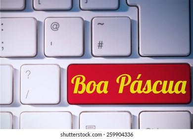 boa pascua against red key on keyboard