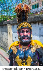 BOAC , PHILIPPINES - MARCH 30 : Participant in the Moriones festival in Boac Marinduque island the Philippines on March 30 2018. The Moriones festival held anualy on the Holy Week