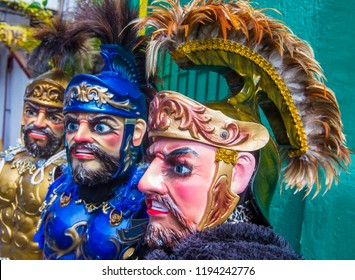 BOAC , PHILIPPINES - MARCH 30 : Participants in the Moriones festival on March 30 2018 in Boac Marinduque island the Philippines. The Moriones festival held anualy on the Holy Week