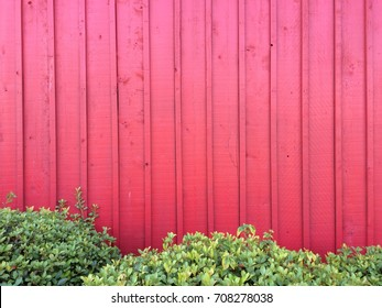 Board and Batten Wood Siding painted red