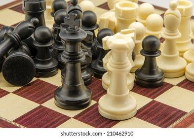 Board and chess pieces
