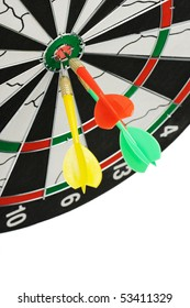 Board for darts. It is isolated on a white background