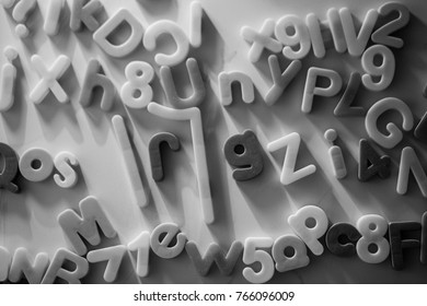 Board with letters for children