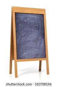 Board menu or  study blackboard on a white background
