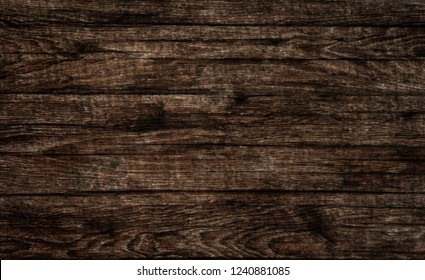 board old wooden texture, brown wood background, horizontal photo