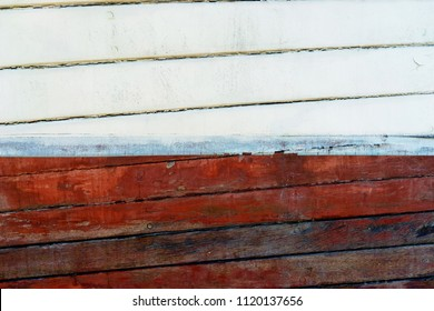 Board painted wooden boat