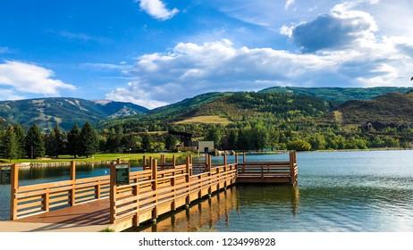 Board walk in Nottingham park Avon Colorado