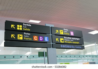 Board-index at the airport
