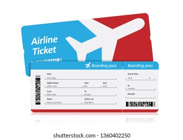 Boarding pass on white
