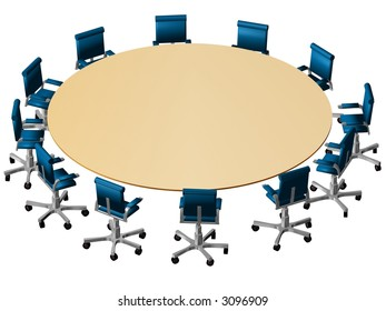 Boardroom 3D on white