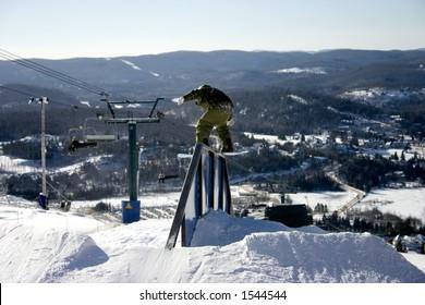 Boardslide at Mont Tremblant Quebec