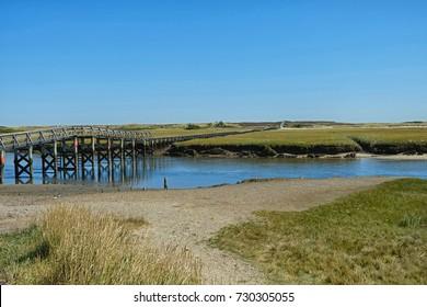 Boardwalk Across Marsh headed toward Ocean