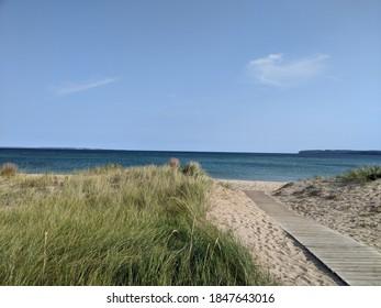 Boardwalk at the beach, near Traverse City MI