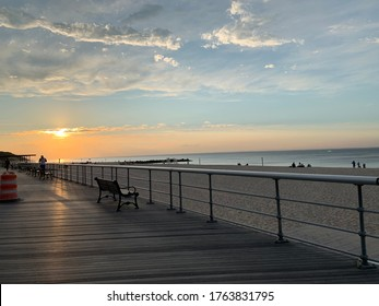 Boardwalk at the beach, New York