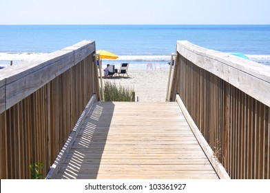 boardwalk to beach and ocean