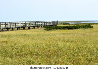 Boardwalk at Bouctouche New Brunswick Canada