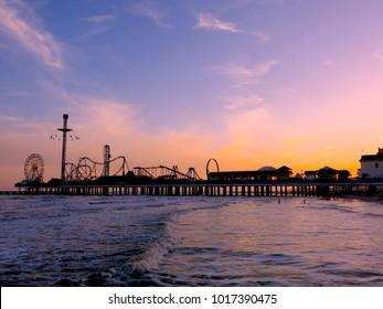 Boardwalk Carnival at Sunset