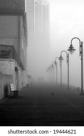 Boardwalk in Fog