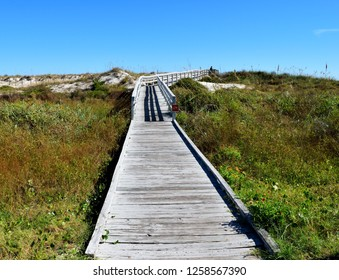 Boardwalk to the ocean beach Florida, USA