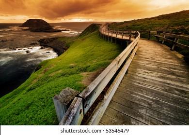 Boardwalk on Australian Coastline