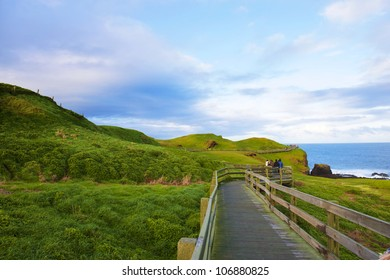 Boardwalk on Australian Coastline. Phillip Island, Victoria.