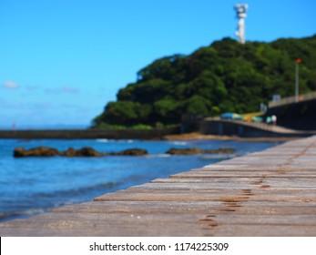 boardwalk on beach,Yokosuka Kanagawa,Japan