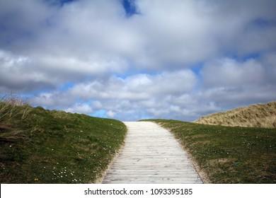 boardwalk path to the beach