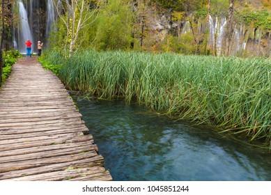 Boardwalk in Plitvice Lakes National Park, Croatia